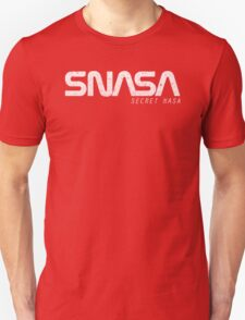SNASA (Secret NASA Typography) Unisex T-Shirt