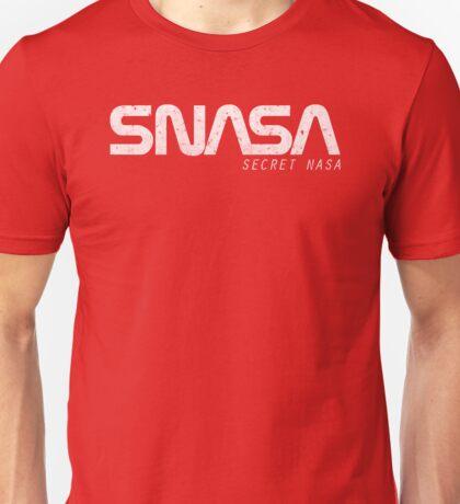 SNASA (Secret NASA Typography) Unisex T-Shirt