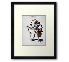Soldiering On Framed Print