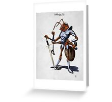 Soldiering On Greeting Card