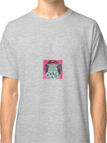 stain glass owl in red Classic T-Shirt
