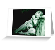 Woman Resting Greeting Card