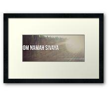 Om Namah Sivaya Framed Print