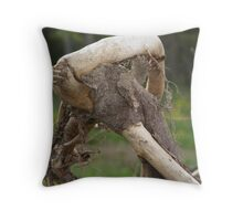 Faint Spider Web & Twisted Tree Throw Pillow
