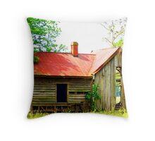 Old Riddick Farm Tennant House Throw Pillow