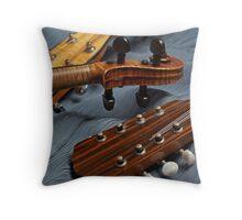 Musical Trio on Blue Throw Pillow