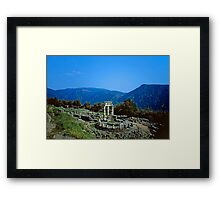 Remains of the Shrine of Athena and the Tholos, Delphi, Greece Framed Print