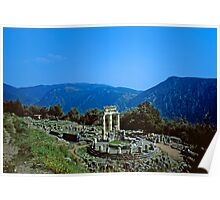 Remains of the Shrine of Athena and the Tholos, Delphi, Greece Poster