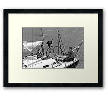 Close-up of Yacht near Lymington Framed Print