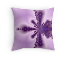 Purple Blobs Throw Pillow