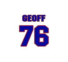 National football player Geoff Schwartz jersey 76 Photographic Print