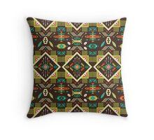 Navajo seamless colorful tribal pattern Throw Pillow