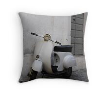 Old scooter Throw Pillow