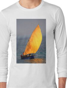 Dhow on the ocean Long Sleeve T-Shirt