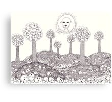 Mask Trees And Their Fallen Fruit Canvas Print