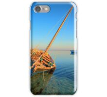 Dhow in the shallow turquoise water iPhone Case/Skin