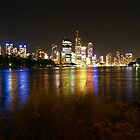 Brisbane River & City at Night by flash62au