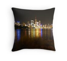 Brisbane River & City at Night Throw Pillow