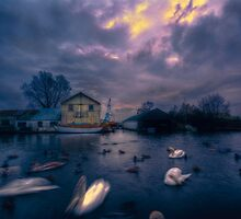 Boatyard. by Nigel Bangert