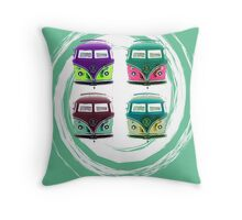 Pop Kombi Aqua  Throw Pillow