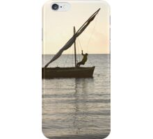 Dhow on the ocean iPhone Case/Skin