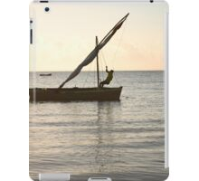 Dhow on the ocean iPad Case/Skin