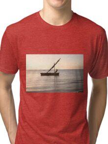 Dhow on the ocean Tri-blend T-Shirt