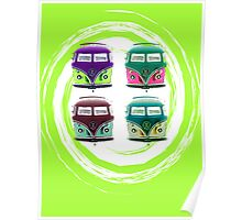 Pop Kombi Lime Poster