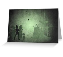 Peter Pan inspired design. Greeting Card