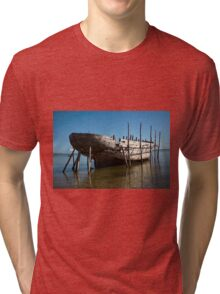 Big Dhow being repaired Tri-blend T-Shirt
