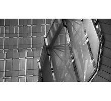 Glass, Lines & Metal Photographic Print