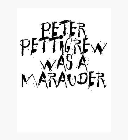 Peter Pettigrew Photographic Print