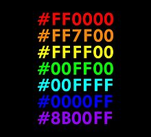 Rainbow HTML color codes by emilegraphics