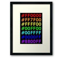 Rainbow HTML color codes Framed Print