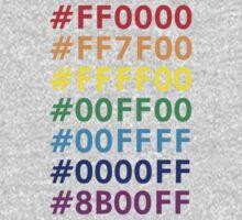 Rainbow HTML color codes One Piece - Long Sleeve
