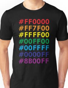 Rainbow HTML color codes Unisex T-Shirt