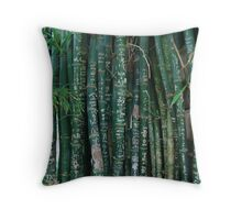 bamboo incidere per knives Throw Pillow