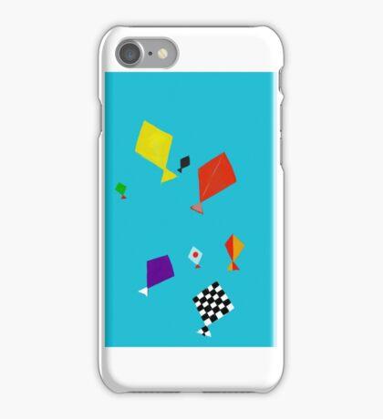 Flying kites iPhone Case/Skin