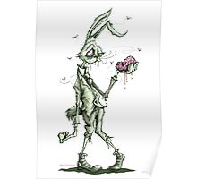 Bugs Zombunny (green) Poster
