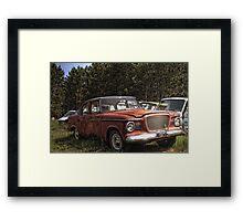 HDR 59 Pink Studebaker Framed Print