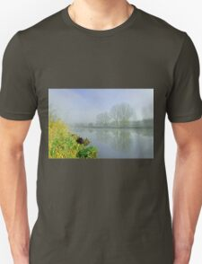 Misty Trees at Waterside, Stapenhill Unisex T-Shirt
