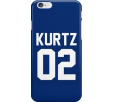 "Kurtz ""02"" Jersey iPhone Case/Skin"