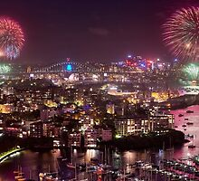 Sydney NYE Fireworks by Ian English