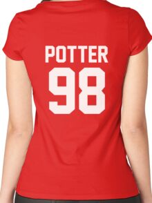 """Harry Potter """"98"""" Jersey Women's Fitted Scoop T-Shirt"""