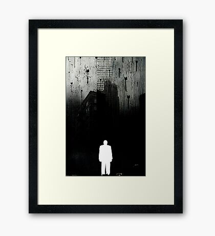 LOVE MISSILES FALLING FROM THE SKY Framed Print