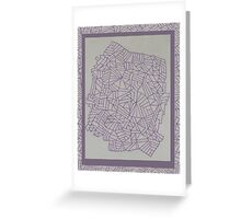 Purple Lined Landscape Greeting Card