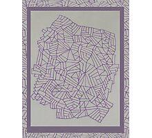 Purple Lined Landscape Photographic Print