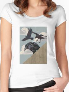 Crow invasion Women's Fitted Scoop T-Shirt