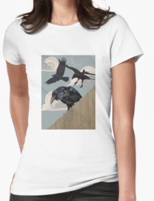 Crow invasion Womens Fitted T-Shirt