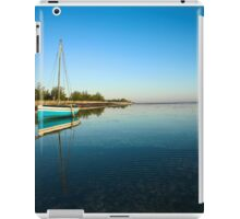Blue dhow in paradise iPad Case/Skin